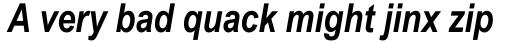 Arial Narrow Bold Italic sample