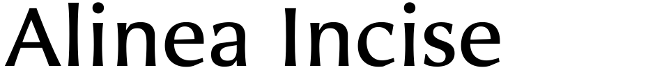 Click to view  Alinea Incise font, character set and sample text