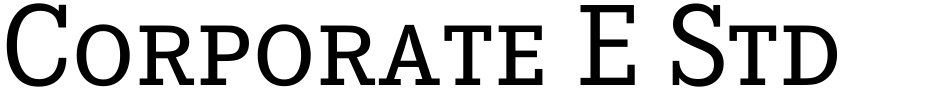 Click to view  Corporate E Std font, character set and sample text