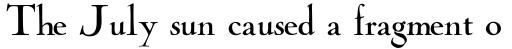 Cochin Archaic Regular sample