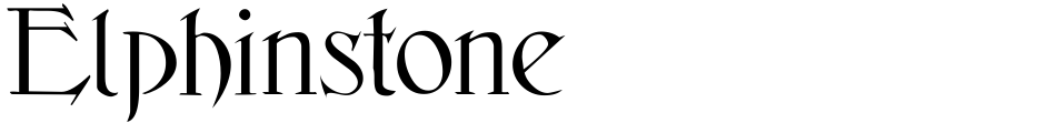 Click to view  Elphinstone font, character set and sample text