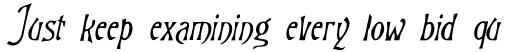 Goodfellow Italic sample