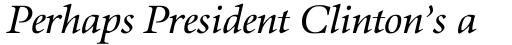 Aurelia Pro Book Italic sample