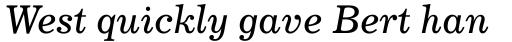 Century 731 Std Italic sample