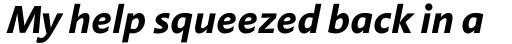 Aroma Bold Italic sample