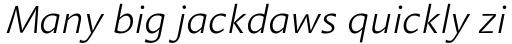 Aroma Light Italic sample
