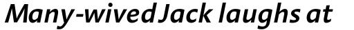 Aroma SemiBold Italic sample
