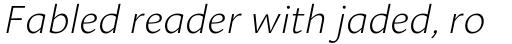 Aroma ExtraLight Italic sample