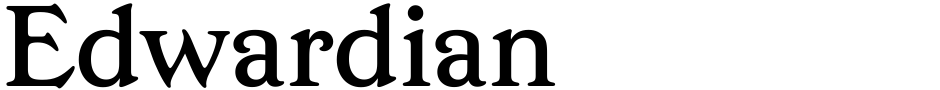 Click to view  Edwardian font, character set and sample text