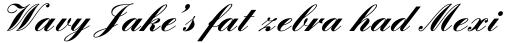 English Script Bold sample