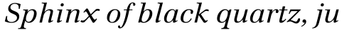 Emona Italic sample