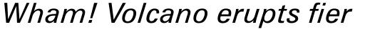 Zurich Italic sample