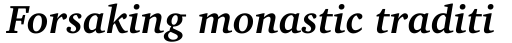Charter BT Std Bold Italic sample