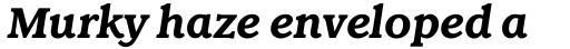 Claremont RR Bold Italic sample