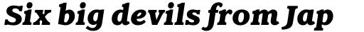 Claremont RR ExtraBold Italic sample