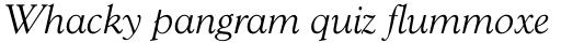 Goudy 38 Light Italic sample