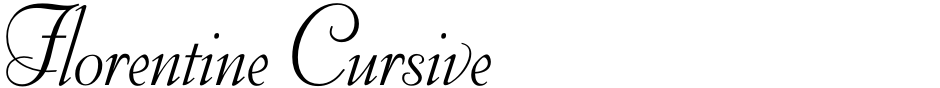 Click to view  Florentine Cursive font, character set and sample text