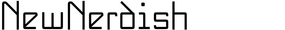 Click to view  NewNerdish font, character set and sample text