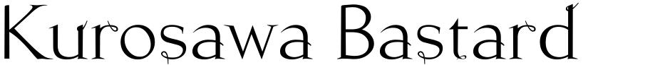 Click to view  Kurosawa Bastard font, character set and sample text