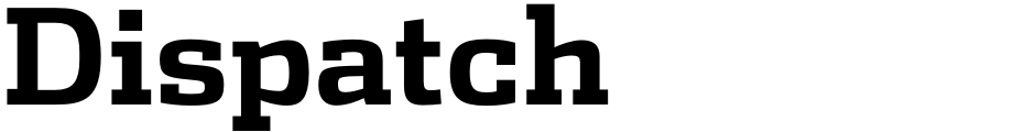 Click to view  Dispatch font, character set and sample text