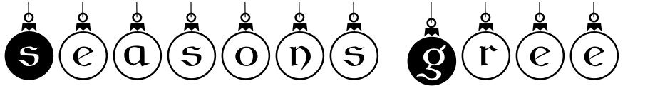 Click to view  Seasons Greetings font, character set and sample text