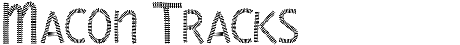 Click to view  Macon Tracks font, character set and sample text