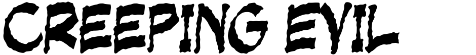 Click to view  Creeping Evil font, character set and sample text