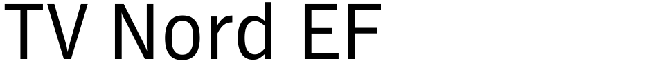 Click to view  TV Nord EF font, character set and sample text