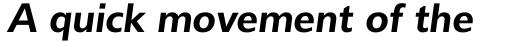 Delargo DT SemiBold Italic sample