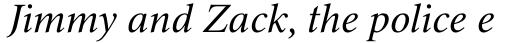 Triest DT Italic sample