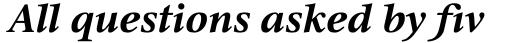Triest DT Bold Italic sample