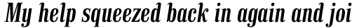Finalia DT Condensed Demi Italic sample
