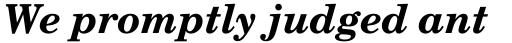 Century Schoolbook DT Bold Italic sample