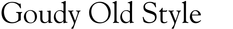 Click to view  Goudy Old Style DT font, character set and sample text