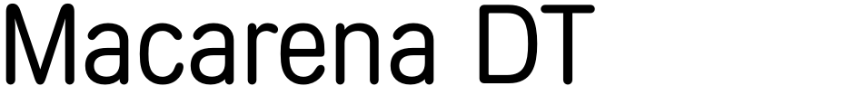 Click to view  Macarena DT font, character set and sample text