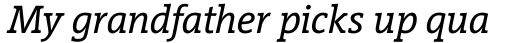 Vigor DT Italic 250 sample