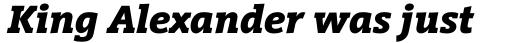 Vigor DT Bold Italic 750 sample