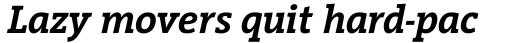 Vigor DT SemiBold Italic 500 sample