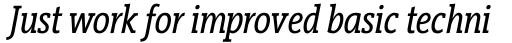 Vigor DT Condensed Italic 250 sample