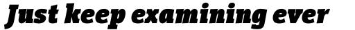 Vigor DT Condensed Black Italic 1000 sample