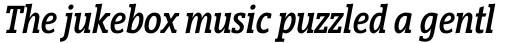 Vigor DT Condensed Medium Italic 375 sample