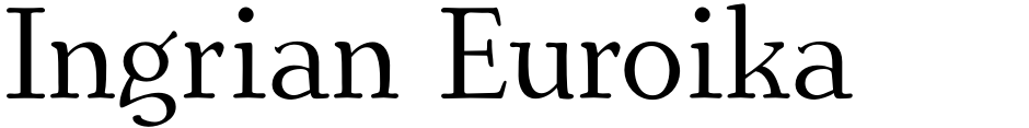 Click to view  Ingrian Euroika font, character set and sample text