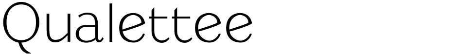 Click to view  Qualettee font, character set and sample text