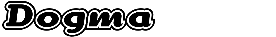 Click to view  Dogma font, character set and sample text
