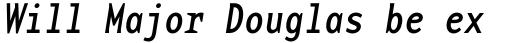 Base Monospace Narrow Italic sample