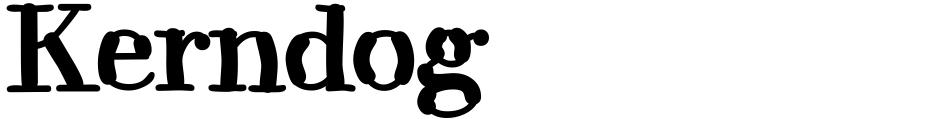 Click to view  Kerndog font, character set and sample text