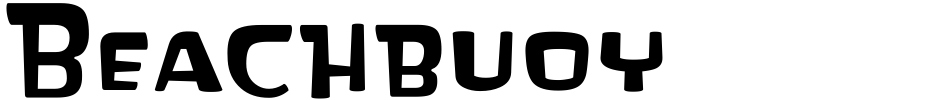 Click to view  Beachbuoy font, character set and sample text