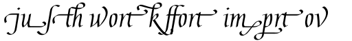 Gaius Ligatures sample