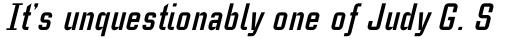 Case Study No One Bold Italic sample