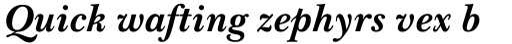 Baskerville No.2 Bold Italic sample